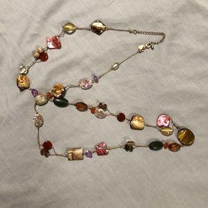 Lia Sophia multicoloured beaded long necklace